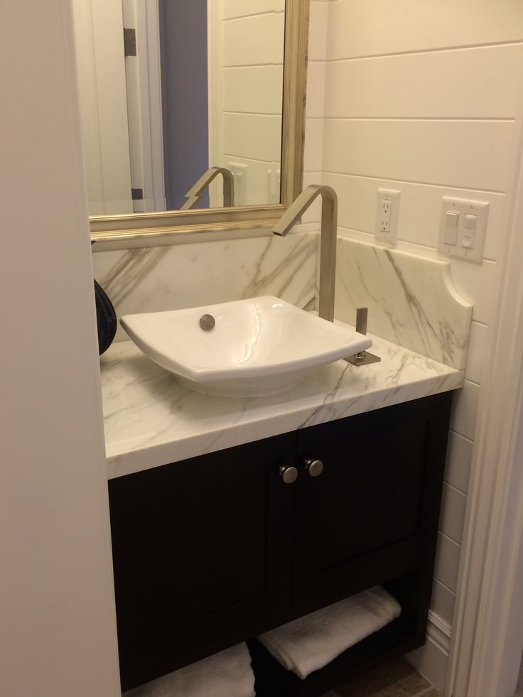 Powder Room With Kohler Vessel Sink Kohler Faucet Powder