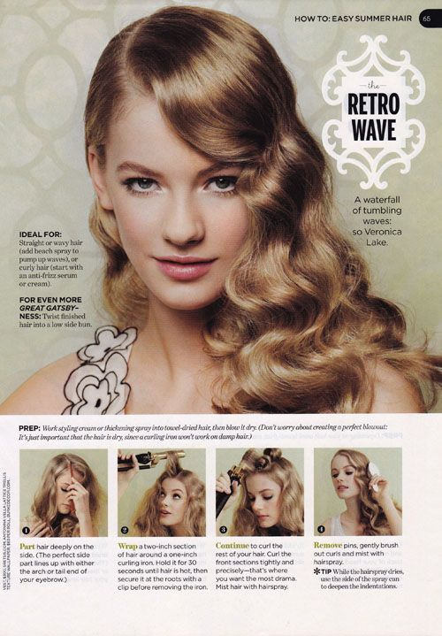The Hair Style File- Always Makes Waves with 1940s Style | GlamAmor