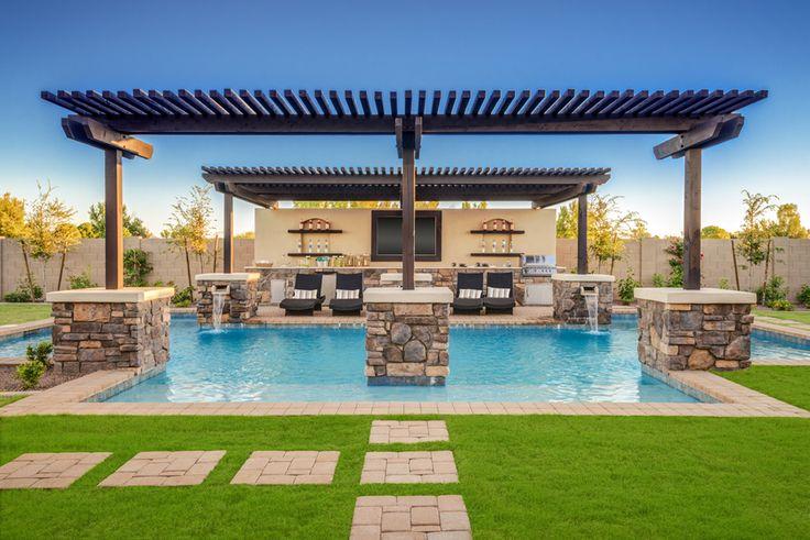 Pool design Toll Brothers - Dorada Estates   Call Amanda Rivas at 480-290-8064 for more information on Gilbert, Arizona real estate http://www.amandabuyschandler.kwrealty.com