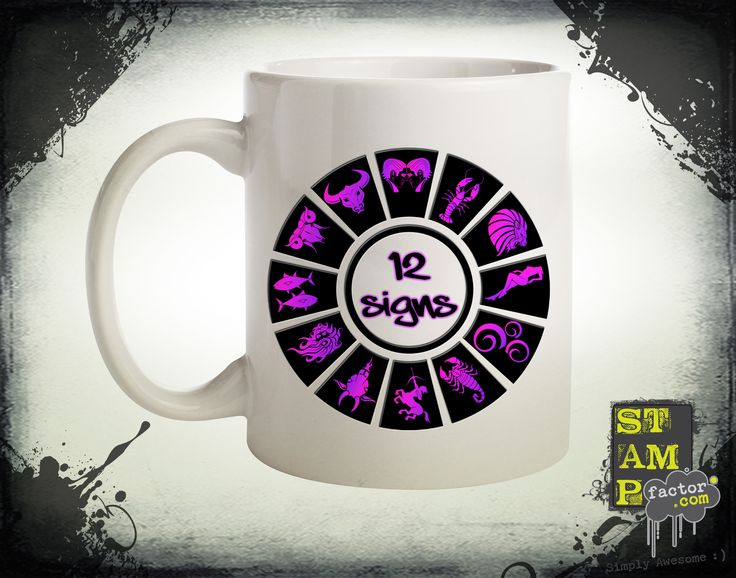 12 Signs (Version 02) 2015 Collection - © stampfactor.com *MUG PREVIEW*