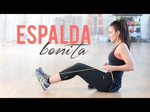 ESPALDA BONITA CON EJERCICIOS DE GOMAS - YouTube