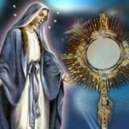 La  Virgen Maria y el Santisimo Sacramento