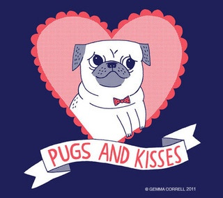 pugs and kisses by gemma correll