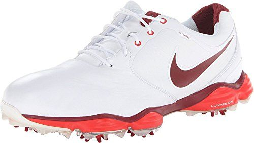 Mens Golf Shoes Idea   NIKE Golf Mens NIKE Lunar Control II Golf Shoe WhiteChallenge RedTeam Red 115 DM US >>> Be sure to check out this awesome product. Note:It is Affiliate Link to Amazon.
