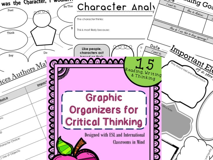 critical thinking skills graphic organizers A series of studies to demonstrate the effectiveness of graphic organizers on comprehension  foster higher level critical thinking skills by asking students to .