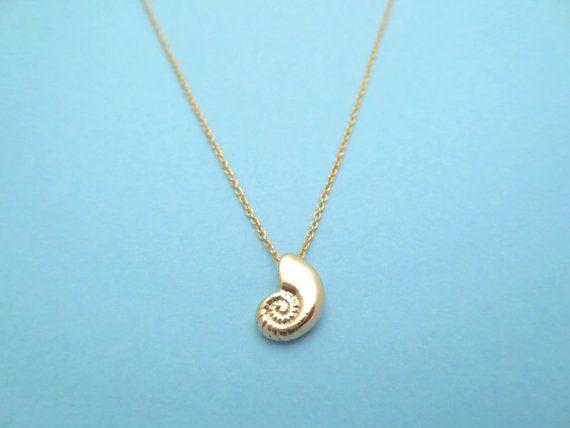 Stimme, Seashell, Gold, Halskette, Ariel, Ariel Stimme, Shell, Halskette, Geburtstag, Liebhaber, beste Freunde, Schwester, Geschenk, Schmuck