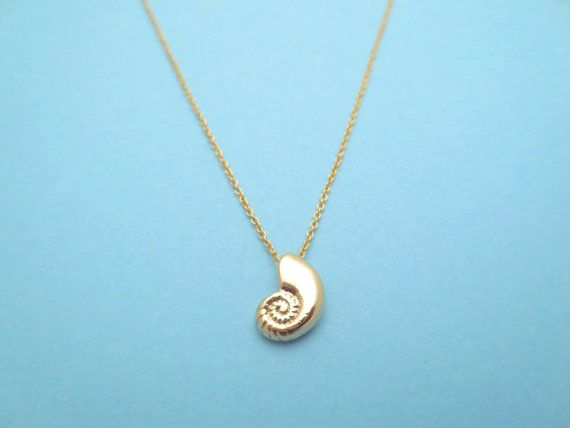 Ariel Voice Gold Plated Seashell Necklace by Solistar on Etsy