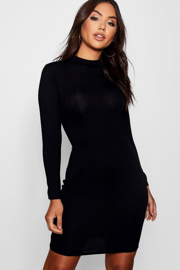 Black and gold high neck bodycon dress