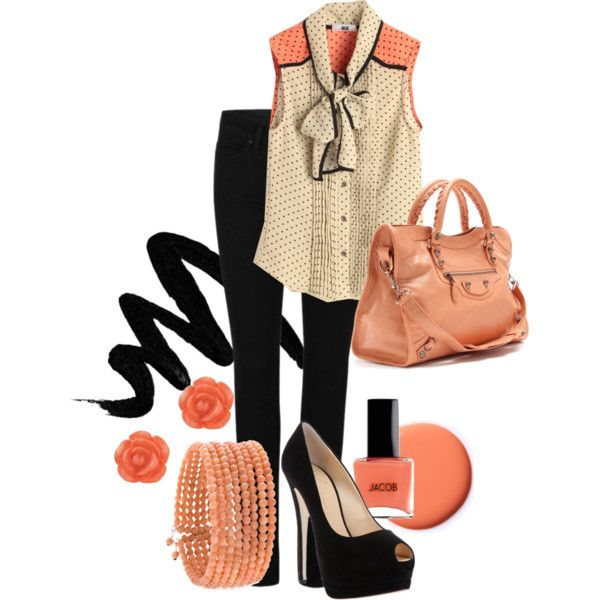 """Coral Obsession"" by karrina-renee-krueger on Polyvore"