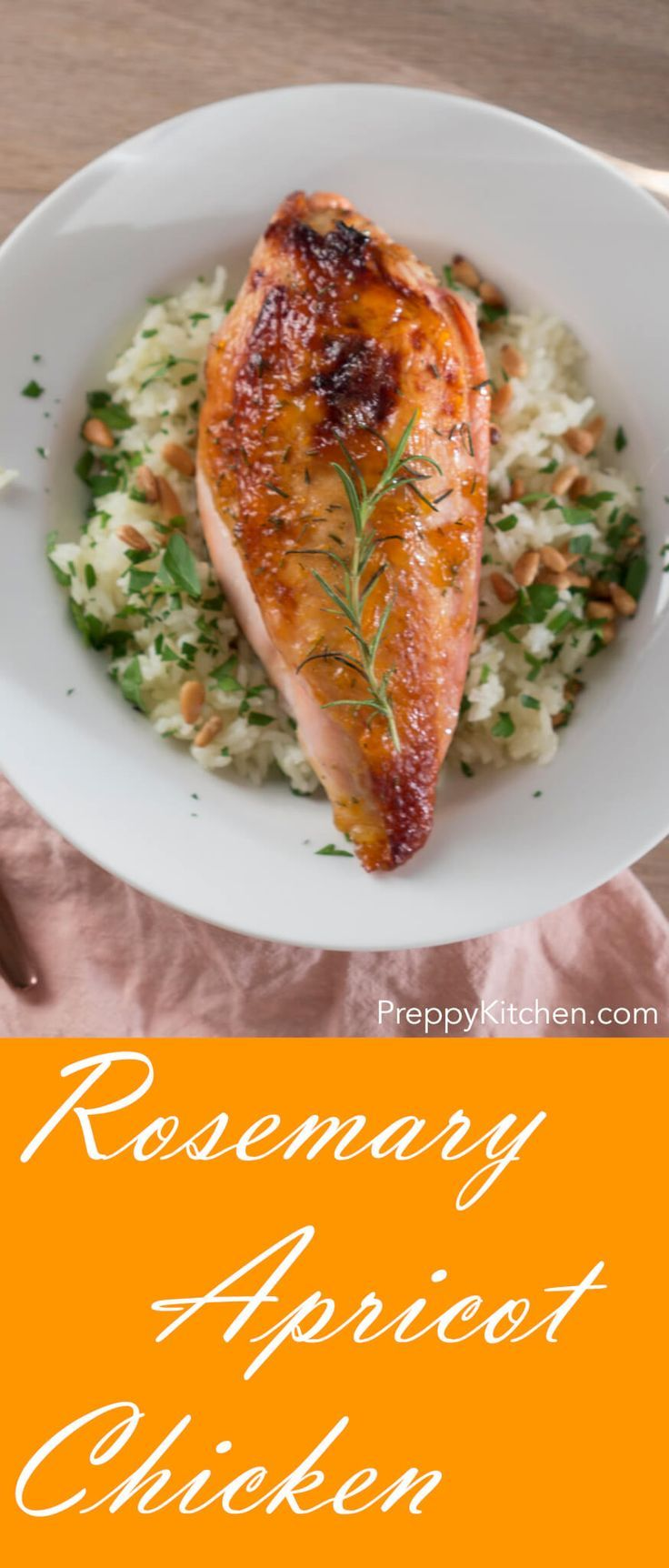Apricot & Rosemary Chicken via @preppykitchen