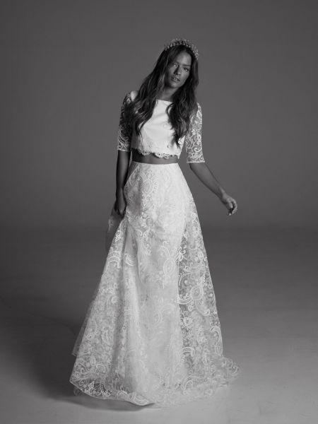 Die schönsten zweiteiligen Brautkleider 2017 – Trendige Looks für die Hochzeit Image: 1