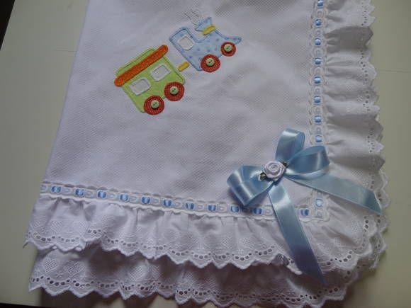 MANTA EM PIQUET. | Capim Limão handmade | 2C2855 - Elo7