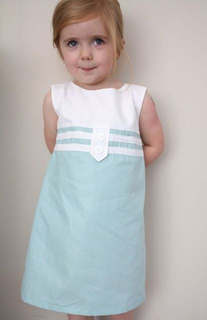 Gör det själv: sy denna söta klänning efter dessa instruktioner #sy #DIY #barn