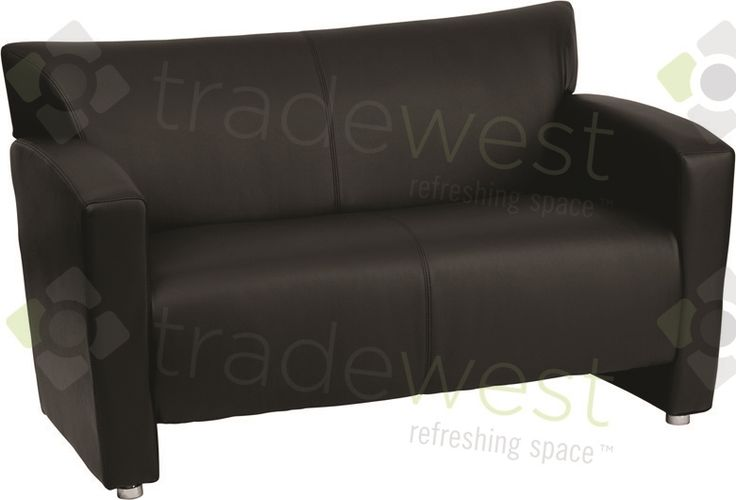 ENERGi - 807-2 Loveseat - Black Leather