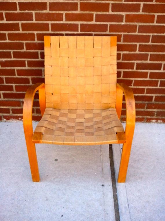 Mid Century Bruno Mathsson Style Woven Chair by bcdrygoods on Etsy, $445.00