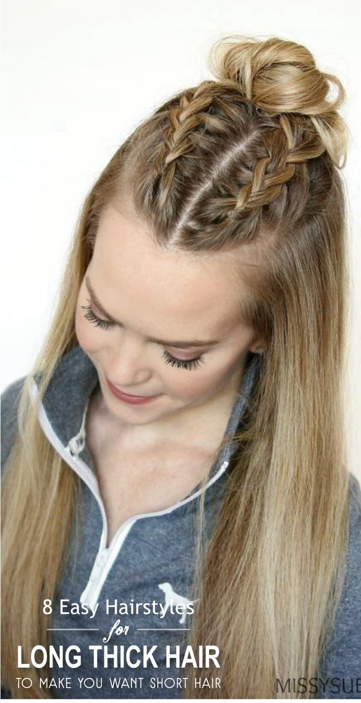 Searching hairstyles for long thick hair? Here is our pick of 8 easy hairstyles for long thick hair. Check them out. Now!  #hairstraightenerbeauty  #longthickhairstyles  #longthickhairstyleseasyupdo  #longthickhairstyleswithbangs  #longthickhairstylesideas  #longthickhairstylestutorials  #longthickhairstyleseasy