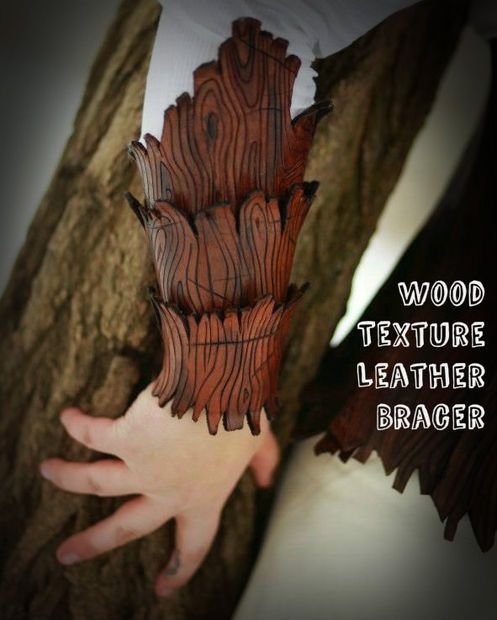 Tutorial: Wood texture leather bracer.For all you awesome people who can actually CRAFT leather! Ugh, so jealous! I wish I could make these! Learn on leather crafters! <3