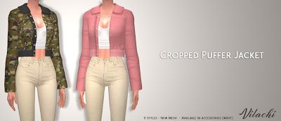 The Sims 4 Mody: Kurtki damskie od Vilachi
