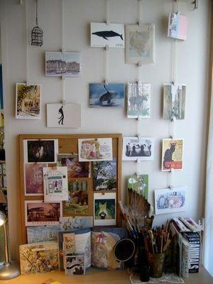 【ディスプレイ術】写真・ポストカードのオシャレな飾り方実例集【インテリア】 - NAVER まとめ