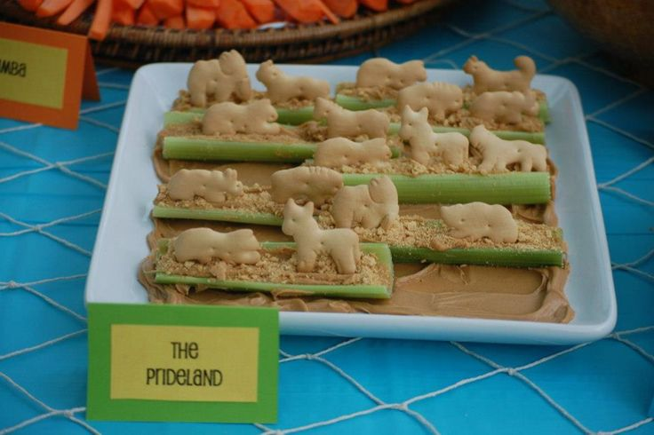 Lion King birthday food. Peanut butter and celery