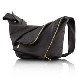 NEW Lupo Metropolis Black Leather Shoulder Bag