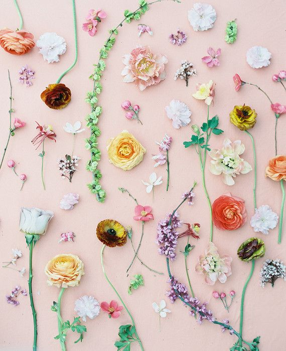 Spring florals. Miesh Photography, on 100 Layer Cake.