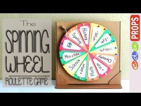 THE ROULETTE GAME_How to make a spinning wheel out of cardboard | Edu Props - YouTube