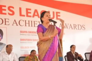 Anandiben Patel Addressing the Crowd on Womens Day