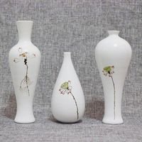 Sale Time-limited Tabletop Vase Traditional Chinese Floor Vases Ceramic Porcelain Vasos Small Flower Crafts Hand-painted Wedding