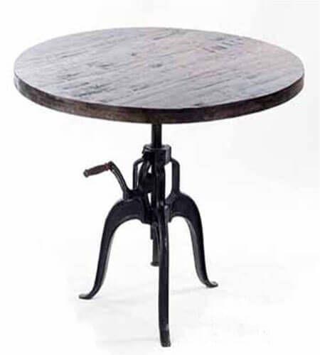 round shaped tea desk