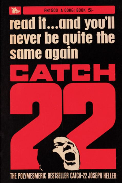 Catch-22 (joseph heller) It was such a chaotic, complicated read that its the type of thing to read again and again to get more from each time. My favourite parts were filled with little absurd satires that are just completely relatable. However, the horrors of war are not lost and the comedy is definitely black. The episode where Yossarian treats the wrong wound really affected me, the futility, the lost hope, I'm scarred for life.
