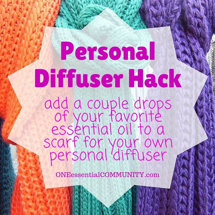 Genius Essential Oil Hack #30  Add a couple drops of your favorite essential oil to a scarf for your own personal diffuser -- click image for 30 more genius essential oil tips & hacks (there's even a free printable of all the ideas!!)