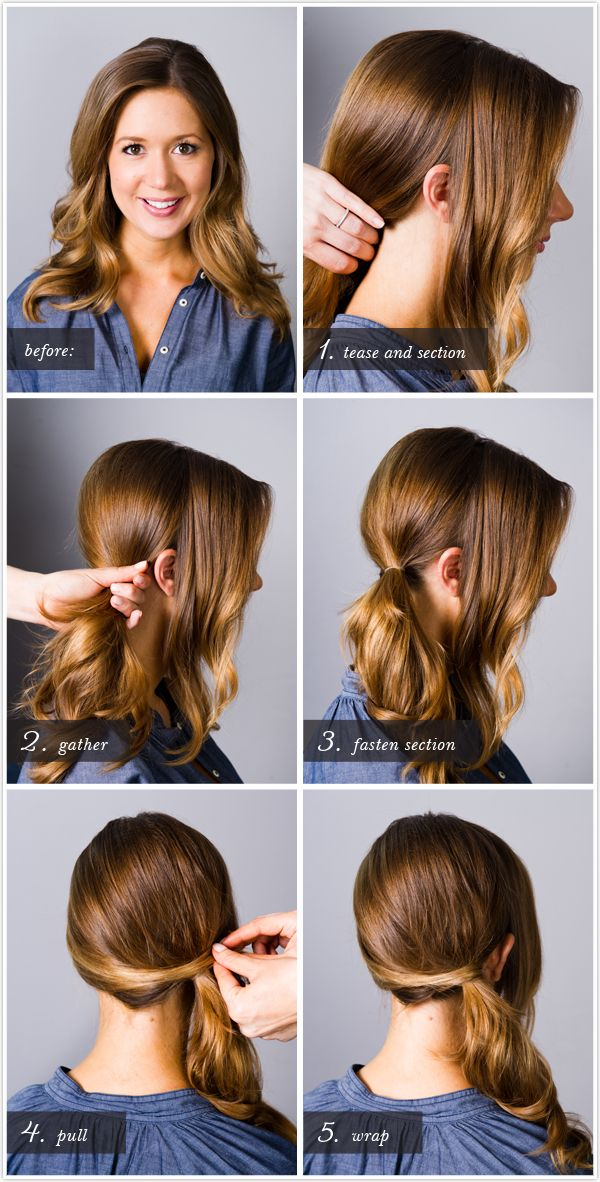 perfect side ponytail