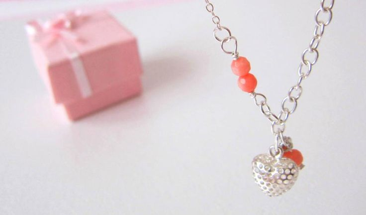 Heart Coral Necklace