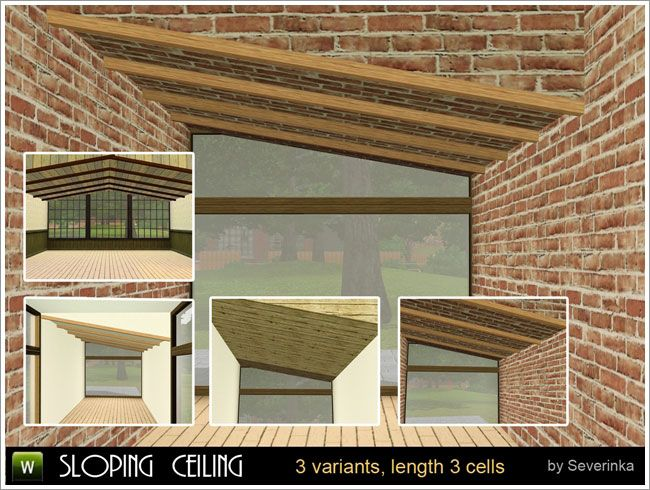 Sloping ceiling