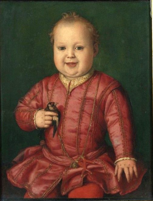 Portrait of Giovanni de' Medici as a Child (c. 1545) oi on nel painting by the Florentine artist Agnolo Bronzino.