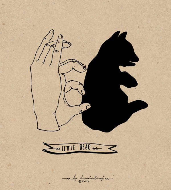 Feral Figure Finger Illustrations - The Lara Mendes Hand Shadows Creates Critters with Shadows (GALLERY)