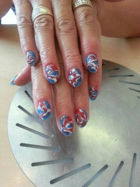 Marble, by nails