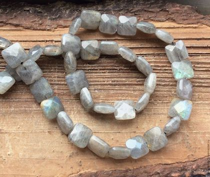 Лабрадор квадрат 10 мм огранка бусины камни для украшений. Handmade.
