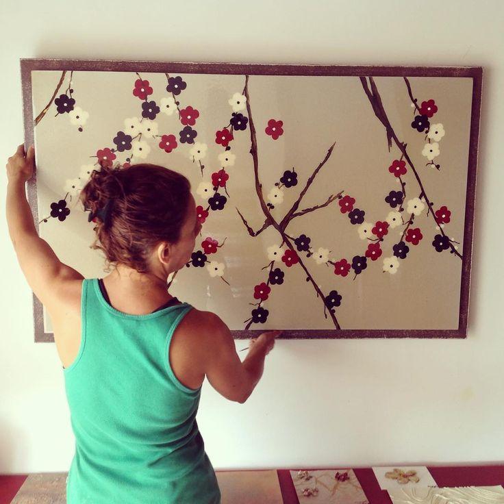 Colgando mi #cuadro árbol cerezos, disponible para la venta.