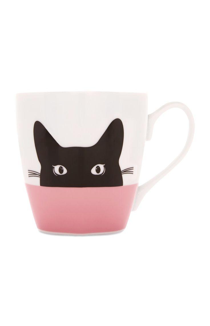 Pink Cat Mug