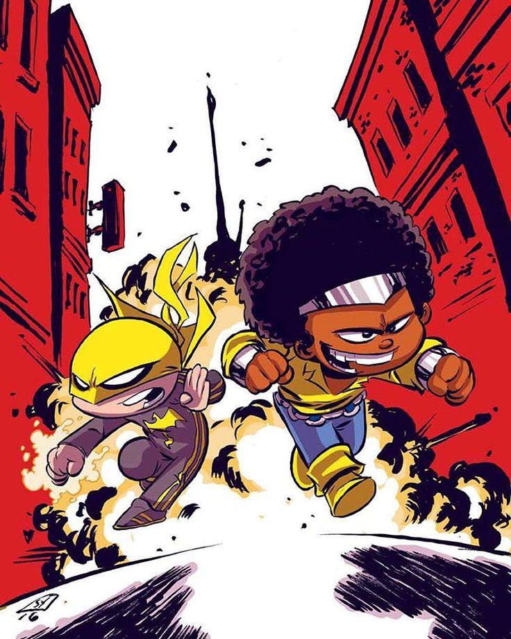 StuffNThings - skottieyoung:   Powerman and Ironfist #marvel...