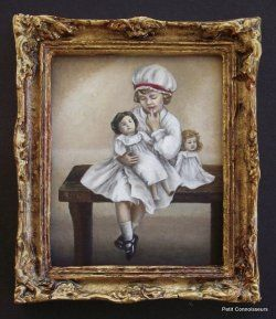 Her Favourite Doll by Cindy Lotter - $145.00 : Petit Connoisseurs, South African Artisan Dollhouse Miniatures
