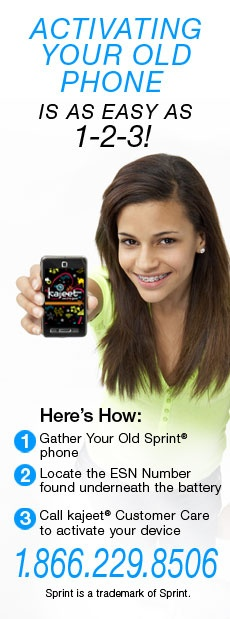 Pass your old Sprint phone to your kids and set them up with a - sprint customer care