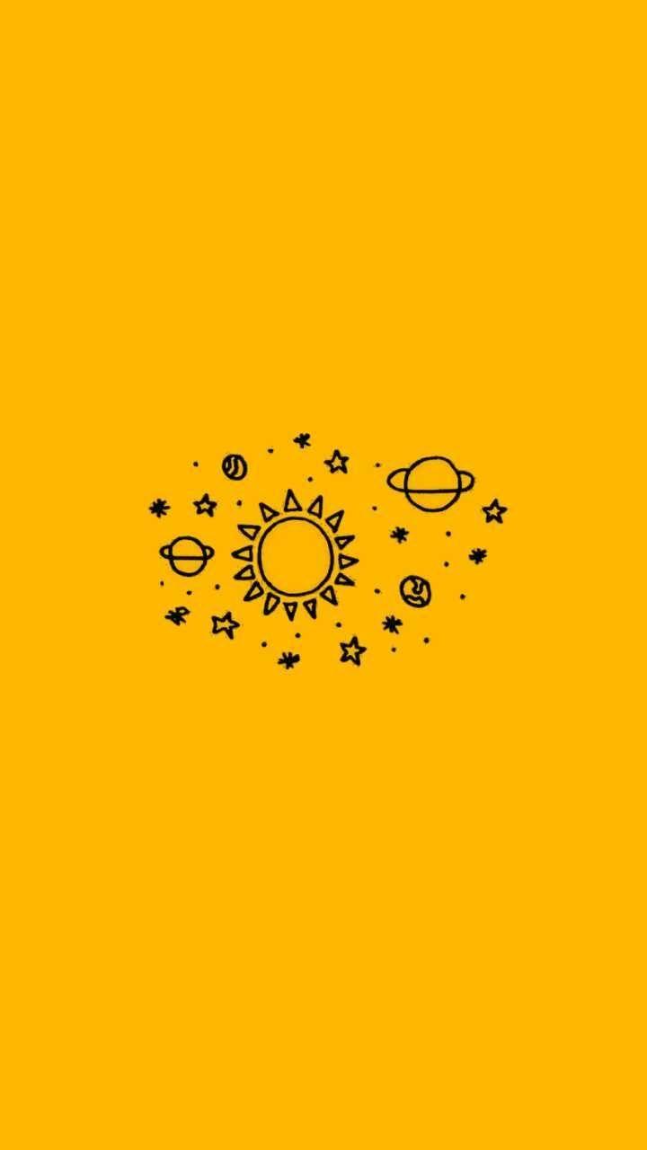 Aesthetic Background Yellow Black Aesthetic