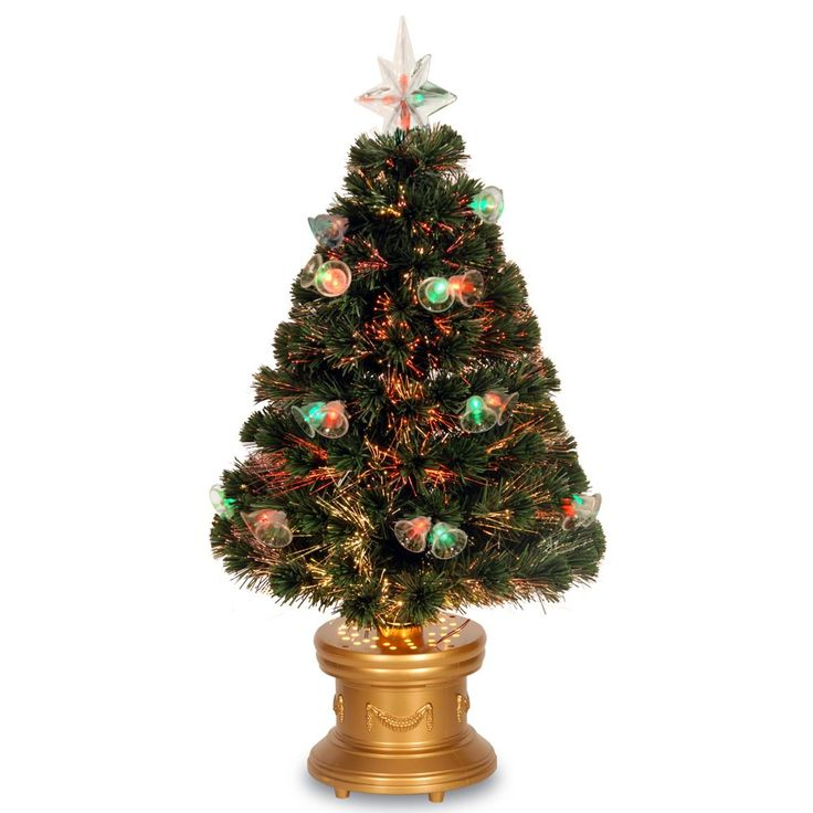 shop online for this dashing 3 foot fiber optic fireworks tree wdouble bells artificial christmas tree with fiber optic lights and 115 pvc branch tips - 3 Foot White Christmas Tree