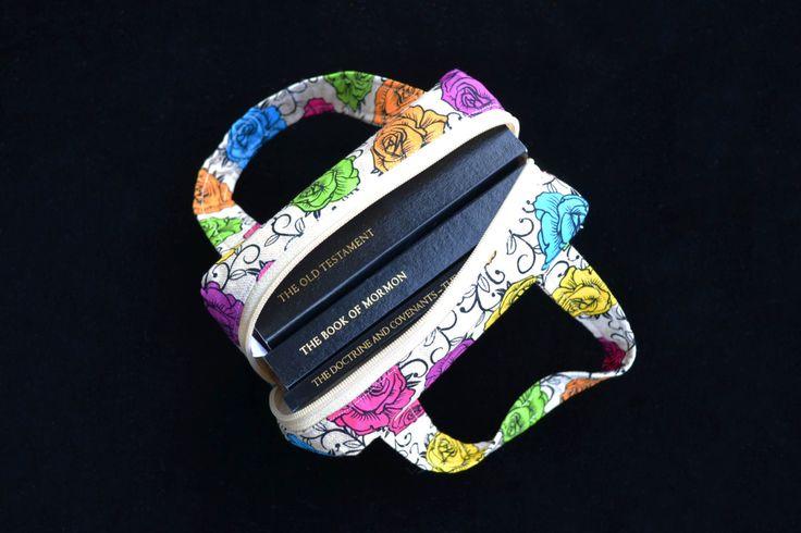 Bright Floral 'Francis' Scripture Case - mini size, handmade Scripture Case, Fabric Scripture Case by MayboleandWick on Etsy
