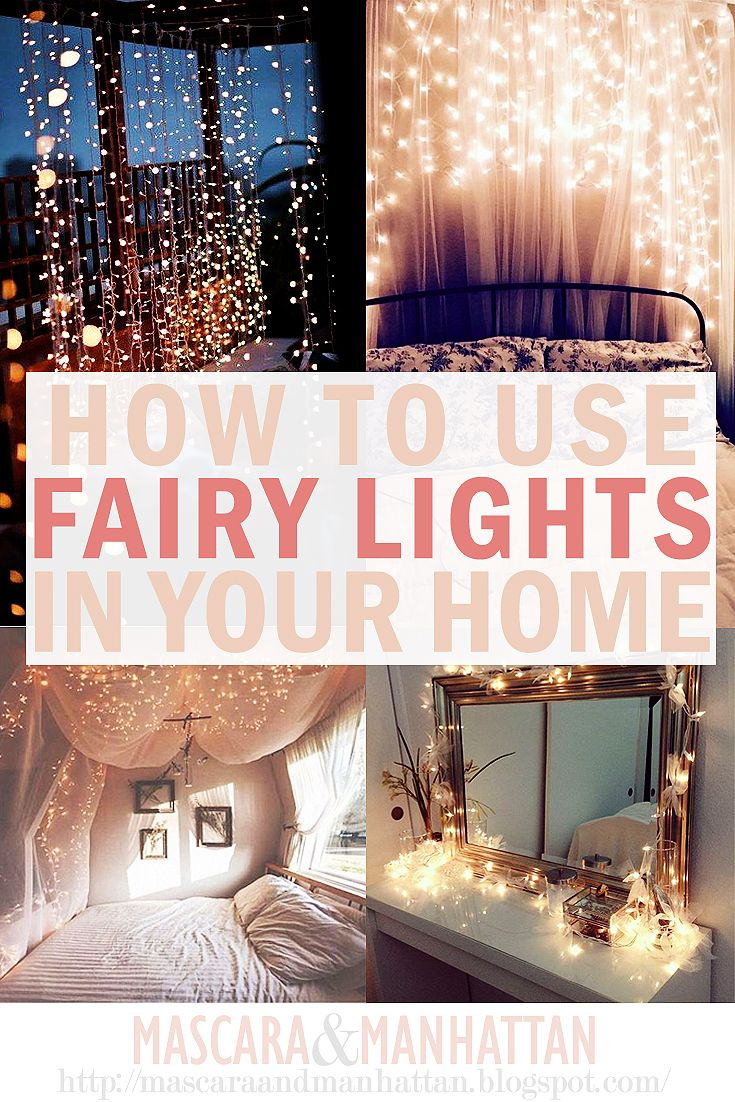 How To Use Fairy Lights In Your Home - they are perfect for bedroom, living room, outdoor space and more!