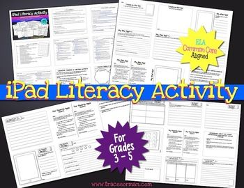 iPad Literacy Activities, aligned with the Common Core State Standards.$  Grade 4 -  CCSS.ELA-Literacy.W.4.1  CCSS.ELA-Literacy.W.4.1a  CCSS.ELA-Literacy.W.4.2  CCSS.ELA-Literacy.W.4.4  CCSS.ELA-Literacy.W.4.5  CCSS.ELA-Literacy.L.4.1  CCSS.ELA-Literacy.L.4.2  CCSS.ELA-Literacy.L.4.3  CCSS.ELA-Literacy.SL.4.1  CCSS.ELA-Literacy.SL.4.4  CCSS.ELA-Literacy.SL.4.5