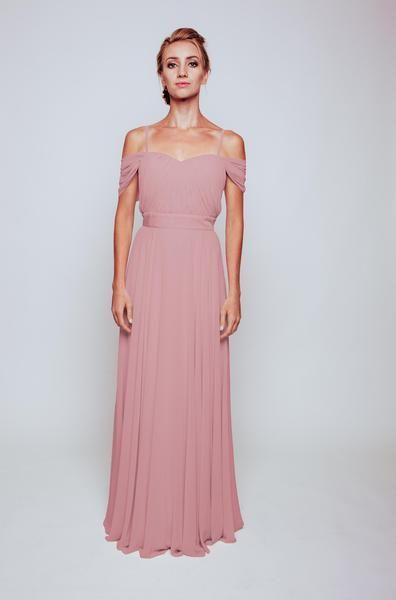 Mimi Dress tailored from Silk Underlay and Chiffon Overlay Bridesmaid dress | Pale pink wedding | Pink wedding | Pink bridesmaid dress | Dusty pink wedding | Dusty pink bridesmaid dress | Pale pink bridesmaid dress